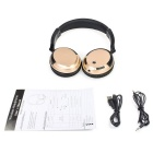 Stereo BT 3.0 Headset Sports Line-in Headphone w/ Mic - Black + Golden