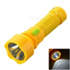 SJ-202 Environmental Protection Solar LED Flashlight - Yellow