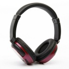 Stereo Bluetooth V4.1 Headset Sports Wireless Line-in Headband Headphone w/ Mic - Black + Red