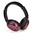 Stereo BT 3.0 Headset Sports Line-in Headphone w/ Mic - Black + Red
