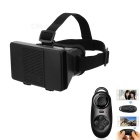 "Cardboard Virtual Reality VR Google 3D Glasses w/ Head Strap, BT Controller for 4~6.5"" Phone - Black"