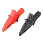 Large Dolphin Gator Clips - Red + Black (2PCS)