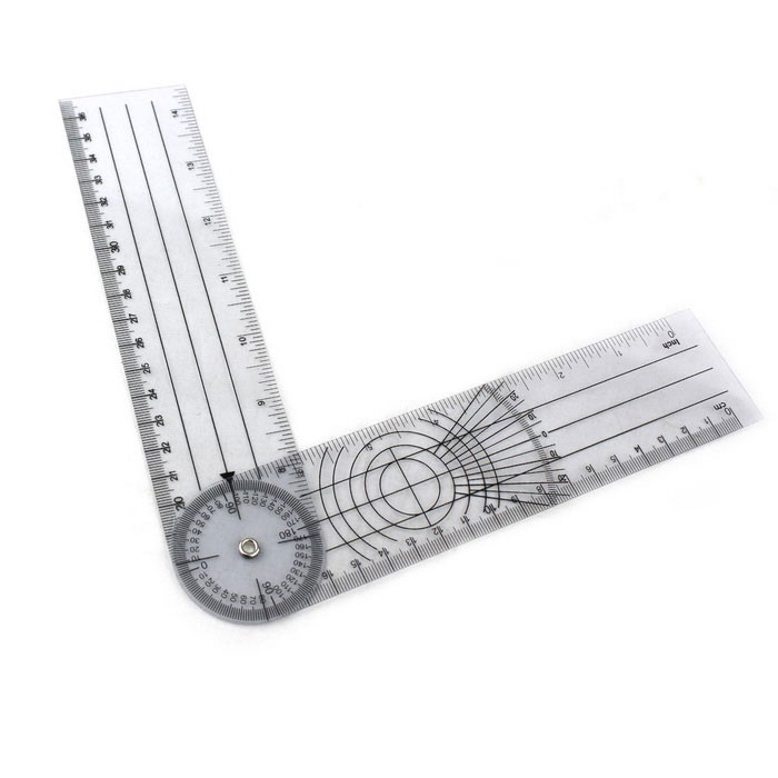 Accurate Medical Round Orthopaedics Ruler - Grey + Black