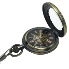 Men's Retro Hollow Analog Mechanical Zinc Alloy Pocket Watch - Bronze