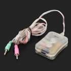 3.5mm Computer Multifunctional Audio Converter - White + Multi-Colored
