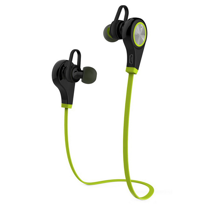 Bluetooth V4.1 Hands-Free Sport Headphone w/ Mic - Black + GreenHeadphones<br>Form  ColorBlack + GreenMaterialABSQuantity1 DX.PCM.Model.AttributeModel.UnitShade Of ColorGreenEar CouplingIn-EarBluetooth VersionBluetooth V4.1,Bluetooth 4.1Operating Range10mRadio TunerNoMicrophoneYesSupports MusicYesConnects Two Phones SimultaneouslyYesApplicable ProductsUniversalBuilt-in Battery Capacity 60 DX.PCM.Model.AttributeModel.UnitBattery TypeLi-ion batteryTalk Time5 DX.PCM.Model.AttributeModel.UnitMusic Play Time4~5HStandby Time72 DX.PCM.Model.AttributeModel.UnitPower AdapterUSBBrandOthers,N/AConnectionBluetoothHeadphone StyleBilateral,In-Ear,BluetoothWaterproof LevelIPX0 (Not Protected)Headphone FeaturesPhone Control,Noise-Canceling,Volume Control,With Microphone,Portable,For Sports &amp; ExerciseSupport Memory CardNoSupport Apt-XNoPacking List1 x Bluetooth Headset 1 x USB Cable (0.2m)2 x Pairs of Earhooks2 x Pairs of Earbuds 1 x English User Manual<br>