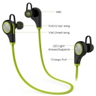 Bluetooth V4.1 Hands-Free Sport Headphone com microfone - Preto + Verde