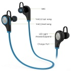 Bluetooth V4.1 Hands-Free Sport Headphone w/ Mic - Black + Blue