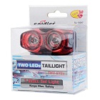 SOLDIER SJ-10297 Water-Resistant 3-Mode Red Light LED Safety Warning Bike Tail Light - Black + Red