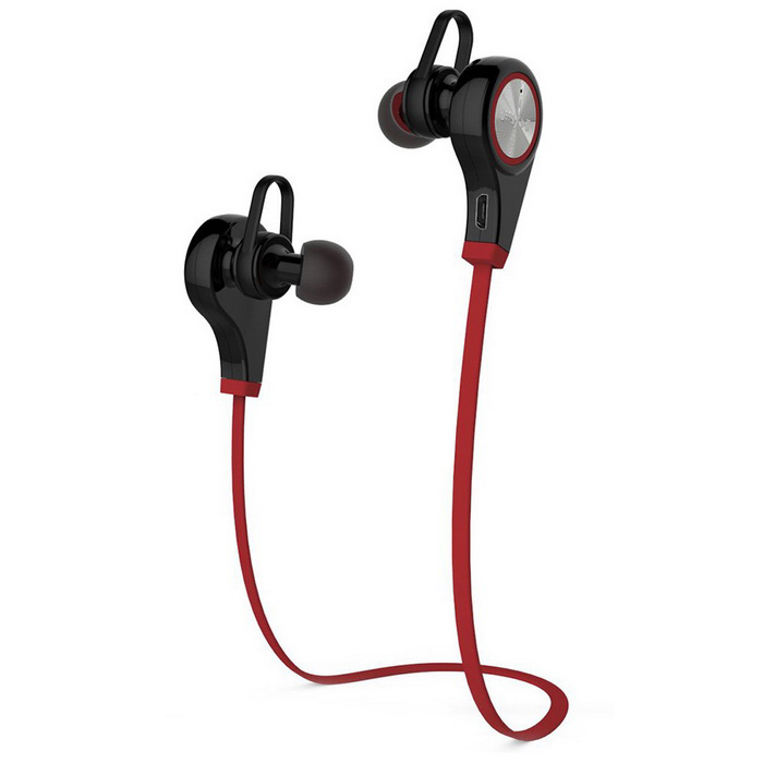 Bluetooth V4.1 Hands-Free Sport Headphone w/ Mic - Black + Red