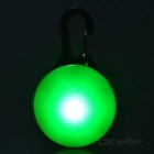 Outdoor Cycling Green Light LED Clip Buckle Safety Warning Bike Saddle Seat Pendant - Silver + Green