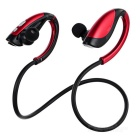 Bluetooth V4.1 Sports Neckband Earphones Headphones w / microfone - Preto + Vermelho