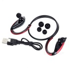 Bluetooth V4.1 Sports Neckband Earphones w/ Microphone - Black + Red