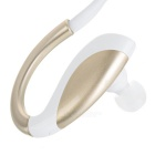 Bluetooth V4.1 Sports Neckband Earphones w/ Microphone - White + Gold