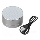 Telefon Bluetooth V 3.0 Speaker Support Handsfree, TF-kort for iPhone 5 / 4S / 5S / 5C - sølvhvite