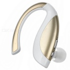 Bluetooth Earhook Earpiece Mono Earphone w/ Microphone - White + Golde