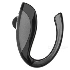 Bluetooth V4.1 Earhook Earpiece Mono Earphone w/ Microphone - Grey + Black