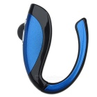 Bluetooth V4.1 Earhook Earpiece Mono Earphone w/ Microphone - Blue + Black
