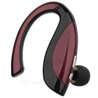 Bluetooth Earhook Earpiece Mono Earphone w/ Microphone - Red + Black