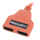 MAIKOU 2-in 1-out HDMI 1.4 Automatic Switcher Splitter Cable - Orange