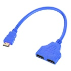 MAIKOU 2-in 1-out HDMI 1.4 Automatic Switcher Splitter Cable - Blue (32cm)