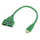 MAIKOU 2-in 1-out HDMI 1.4 Automatic Switcher Splitter Cable - Green (32cm)