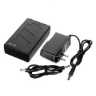 Rechargeable DC 12680 12V 6000mAh Battery w/ Switch / LED Lamp - Black