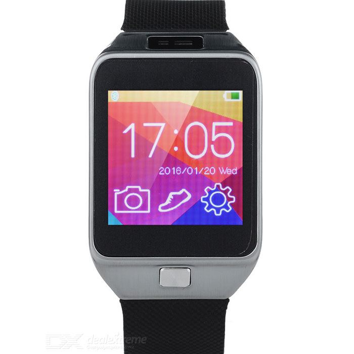 "Ordro 1.6 ""Smart Watch w / Remote Shutter Camera, Bluetooth Music, podomètre - Noir + Argent"