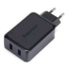 Tronsmart WC2F EU Plug 36W 2 Ports Quick Charge & Volt IQ Smart USB Charger - Black