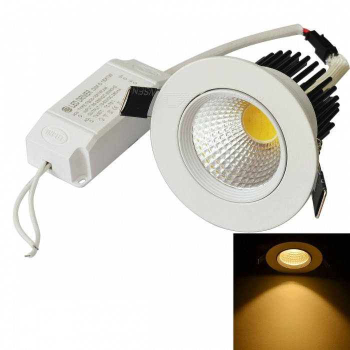 Jiawen 8W 0 ~ 630lm 3000 ~ 3200K Warm White Dimmbare Anti-Glare-COB-LED-Deckenleuchte (AC 85-265V)