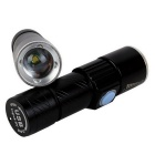 ZHISHUNJIA U2-USB USB Q5 XP-E 240lm White LED Telescopic focusing Flashlight - Black