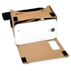 "VR 3D Cardboard Glass+ Bluetooth Control for 5.5"" Screen Phone - Khaki"