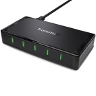 Tronsmart UC5F US Plug 5 Ports USB Desktop Charger QC2.0 Quick Charger - Black