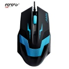 FOR ONLY Authentic Optical Engine Professional Game Mouse - Black + Blue