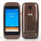 "Elephone Q Android 4.4 Dual-core 3G Mini Bar Phone w/ 2.45"" Screen, ROM 4GB, GPS - Brown"