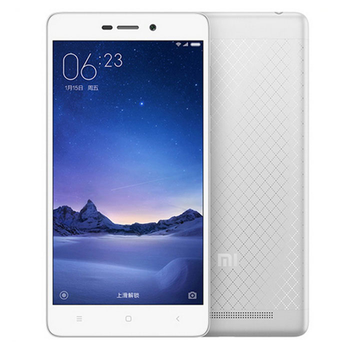 Xiaomi Redmi 3 Android 5.1 4G 5.0 Phone w/ 16GB ROM - Silver + WhiteAndroid Phones<br>Form  ColorWhite + SilverRAM2GBROM16GBBrandXiaomiModelRedmi 3Quantity1 DX.PCM.Model.AttributeModel.UnitMaterialMetalShade Of ColorWhiteTypeBrand NewPower AdapterUS PlugHousing Case MaterialMetalTime of Release2016.1Network Type2G,3G,4GBand Details2G: GSM B2/3/5/8 3G: CDMA EVDO BC0 3G: WCDMA B1/2/5/8 3G: TD-SCDMA B34/39 4G: TD-LTE B38/39/40/41 4G: FDD-LTE B1/3/7Data TransferGPRS,HSDPA,EDGE,LTENetwork ConversationOne-Party Conversation OnlyWLAN Wi-Fi 802.11 b,g,nSIM Card TypeMicro SIMSIM Card Quantity2Network StandbyDual Network StandbyGPSYesNFCNoBluetooth VersionBluetooth V4.0Operating SystemAndroid 5.1CPU ProcessorQualcomm snapdragon616CPU Core QuantityOcta-CoreLanguageEnglish, Bahasa Indonesia, Bahasa Melayu, Cestina, Dansk, Deutsch, Eesti, Espanol, Deutsch, French, Hrvatski, Italiano, Latviesu, Lietuviu, Greek, Bulgarian, Russian, Serbian, Hebrew, Ukrainian, Hebrew, Arabic, Hindi, Thai, Nederlands, Norsk, Portuguese, Romana, Slovencina, Slovenscina, Suomi, Svenska, Vietnamese, ChineseGPUQualcomm 405Available Memory16GBMemory CardMicroSD cardMax. Expansion Supported128GBSize Range5.0~5.4 inchesTouch Screen TypeCapacitive ScreenScreen Resolution1280*720Multitouch10Screen Size ( inches)5.0Camera Pixel13.0MPFront Camera Pixels5 DX.PCM.Model.AttributeModel.UnitVideo Recording Resolution1920 x 1080? 30fpsFlashYesTouch FocusYesTalk Time120-150 DX.PCM.Model.AttributeModel.UnitStandby Time120-180 DX.PCM.Model.AttributeModel.UnitBattery Capacity4000 DX.PCM.Model.AttributeModel.UnitBattery ModeNon-removablefeaturesWi-Fi,GPS,FM,BluetoothSensorG-sensor,Proximity,Compass,AccelerometerWaterproof LevelIPX0 (Not Protected)I/O InterfaceMicro USB,3.5mmUSBMicro USB v2.0SoftwarePlay store, Google, Camera, Music, Video, BrowserFormat SupportedAudio formats support: MIDI/MP3, AAC, etc Video format support: 3GP/MP4, etcRadio TunerFMReference Websites== Will this mobile phone work with a certain mobile c