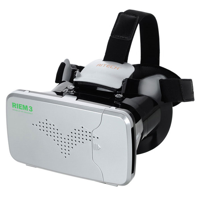 "RITECH RIEM3 Virtual Reality VR 3D Glasses for 3.5~6.0"" Smart Phones - Black + Silver"