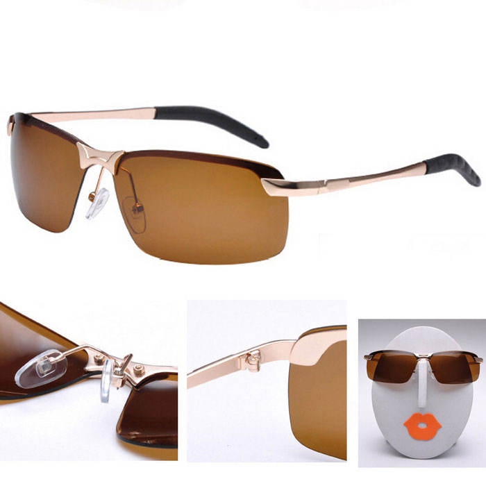 Screw Reinforce Durable SunGlasses - Brown