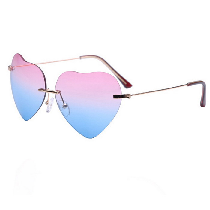 Love Sunlight Pink Blue Gradient Glasses - Pink
