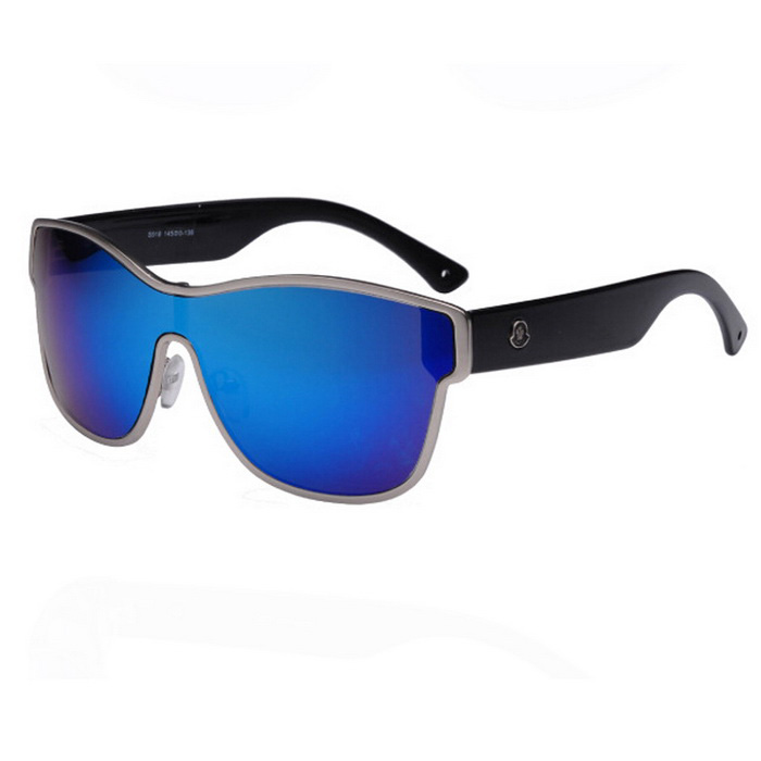 15736ab369a Man s Large Frame Integrated Lens Siamese Sunglasses - Blue + Silver ...