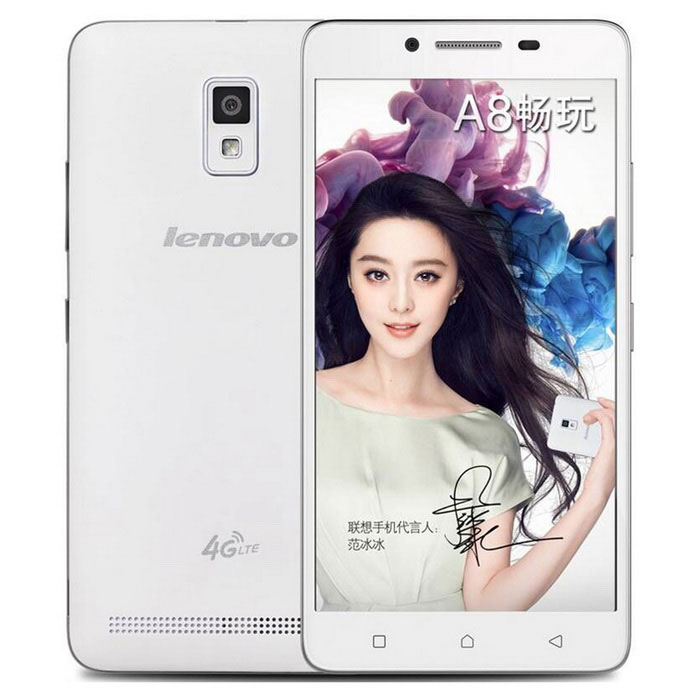 Lenovo A3860 Android 5.1 Quad-core -puhelin, jossa on 1 Gt RAM, 8 Gt ROM - valkoinen