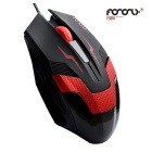 FOR ONLY Authentic Optical Engine Professional Game Mouse - Black + Red