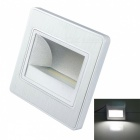 JIAWEN 1.5W 120lm 6500K White Embedded LED Footlights Stair Lamp COB Small Night Light (AC 100-265V)