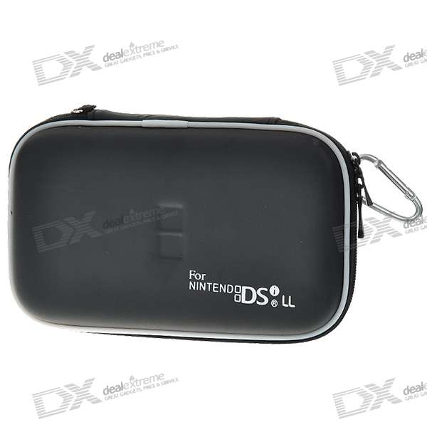 Hard Protective Carrying Pouch with Carabiner Clip for NDSi LL (Black)