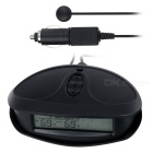 "EC98 Double Temperature Car Voltage Testing Alarm w/ 2.6"" Screen - Black"