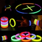 Glowstick Party Activities Luminous Ornaments Bracelet - Red + Yellow + Multicolor (6PCS)