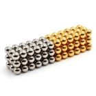 5mm 108PCS Magnetic Balls DIY Puzzle Toy - Silver + Golden