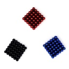 5mm Round Puzzle Magnetic Balls Toys - Red + Black + Blue (216PCS)