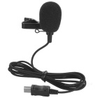 Mini External Microphone w/ 1.9m Cable for GoPro Hero 3 / 3+ / 4 - Black