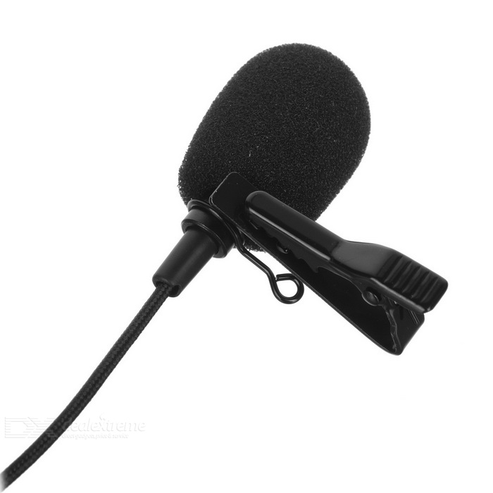 Mini External Microphone w / 1 9m Cable for GoPro Hero 3 / 3+ / 4 - Black